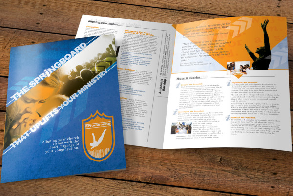 Ministry Consulting Firm Large Brochure Design
