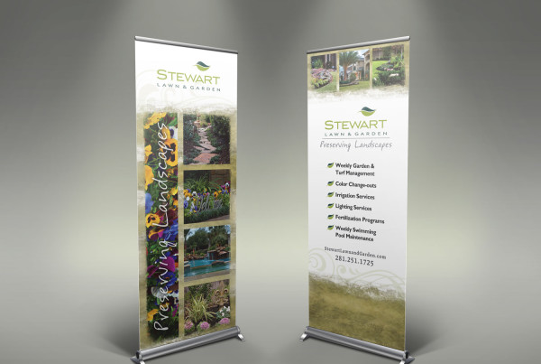 Landscaping Company Trade Show Banner Design
