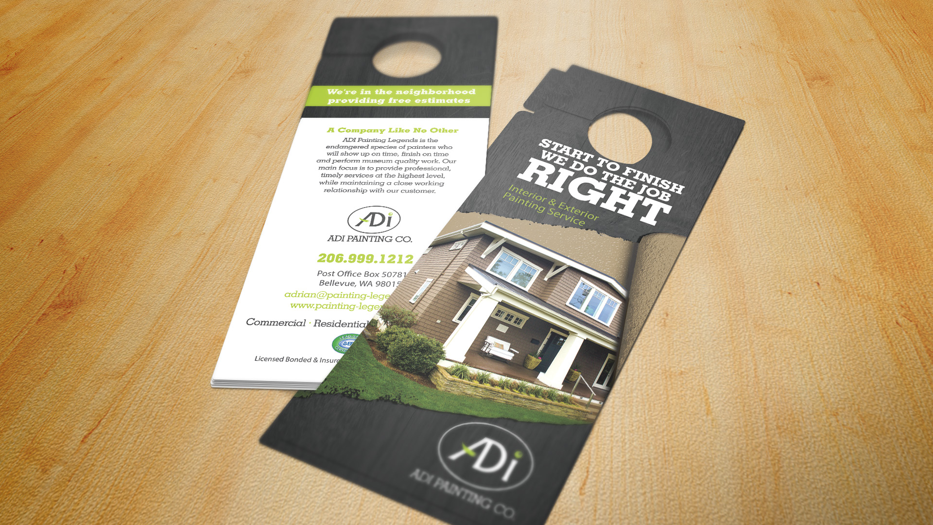 Door Hanger Design & Door Hanger - Brochure Design Company