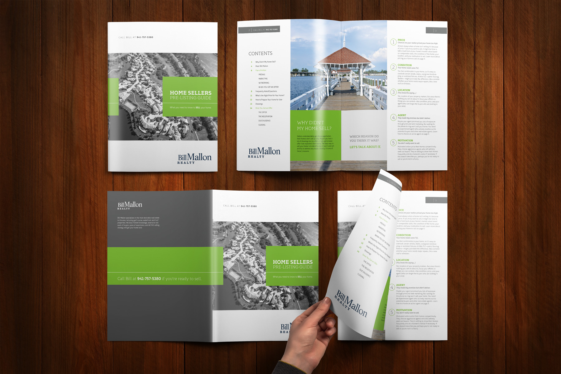 16 page print marketing brochure brochure design company
