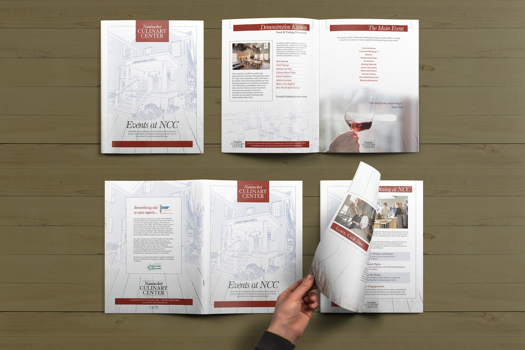 Culinary Center 8-page Brochure Design